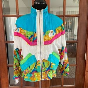 Vintage 1990's Colorful Bomber Clipper Bay
